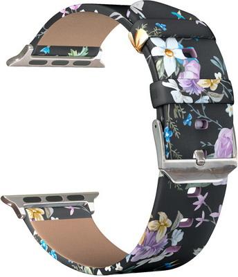 ремешок sport band для смарт часов apple watch 38 40 мм черный с белым Ремешок для часов Lyambda для Apple Watch 38/40 mm MIRA DS-APP-011-1-40-13