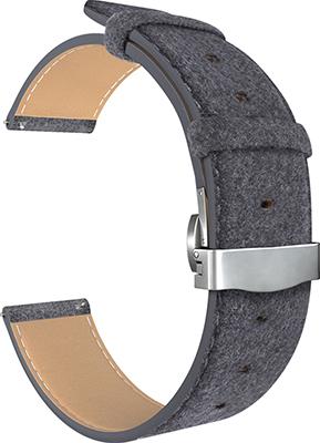 Ремешок для часов Lyambda универсальный для часов 20 mm MINKAR DSP-10-20 Black ремешок для часов lyambda для apple watch 42 44 mm minkar dsp 10 44 black