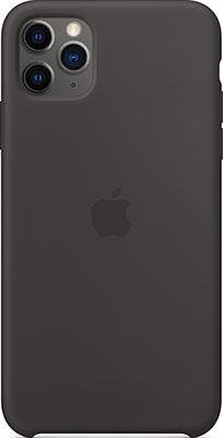 Чехол силиконовый Apple Silicone Case для iPhone 11 Pro Max Silicone Case Black MX002ZM/A силиконовый чехол apple silicone case для iphone xs max цвет papaya свежая папайя mvf72zm a