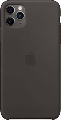 Чехол силиконовый Apple Silicone Case для iPhone 11 Pro Max Black MX002ZM/A