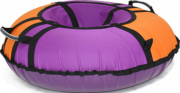 Тюбинг Hubster Хайп фиолетовый-оранжевый 110 см во4471-4