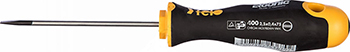Отвертка Felo Ergonic плоская шлицевая 2 5X0 4X75 40002210 отвертка felo шлицевая плоская для точных работ 2 5x0 4x60 24025250