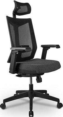 Кресло Riva Chair T27H Серая ткань (STI-01)/Чёрная сетка BTC-01