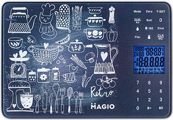 Кухонные весы MAGIO MG-692 темно-синий кухонные весы magio mg 797