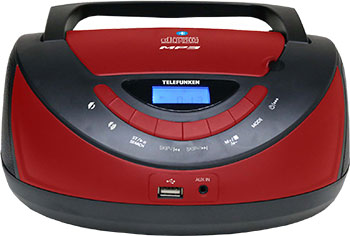 Магнитола Telefunken TF-CSRP3497B (черный с красным)