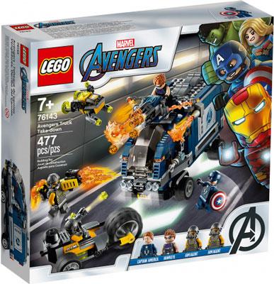 цена Конструктор Lego Super Heroes Мстители: Нападение на грузовик 76143 онлайн в 2017 году