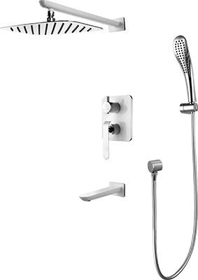 Смеситель для ванной комнаты Lemark Melange LM4922CW для ванны и душа встраиваемый