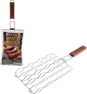 Решетка-гриль Ecos для сосисок колбасок шпикачек RD-672 999672 вилка гриль для сосисок boyscout цвет стальной красный