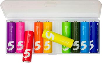 Батарейка Xiaomi ZMI Rainbow AA501 тип AA (уп.10 шт) цветные