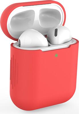 Фото - Чехол силиконовый Eva для наушников Apple AirPods 1/2 - Красный (CBAP04R) чехол силиконовый eva для наушников apple airpods 1 2 розовый cbap04p