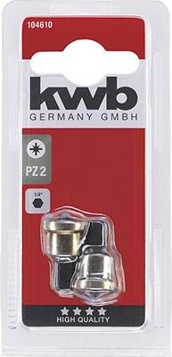 Бита Kwb с упором PZ2 1/4'' 2шт 104610 бита kwb pz2 25мм д гипсокартона 2шт