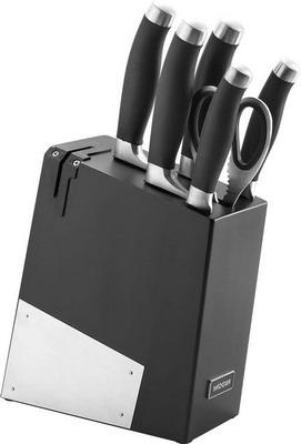 Фото - Набор из 5 кухонных ножей, ножниц и блока для ножей с ножеточкой Nadoba RUT 722716 набор из 5 кухонных ножей nadoba keiko