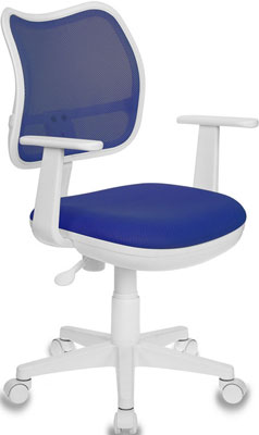 Кресло детское Бюрократ Ch-W797 синий сиденье синий TW-10 сетка/ткань крестовина пластик пластик бел