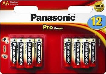 Батарейки щелочные Panasonic AA Pro Power promo pack в блистере 12шт (LR6XEG/12B4F) батарейки щелочные panasonic aa pro power в блистере 10 шт 6 и 4 lr6xeg 10b4fpr