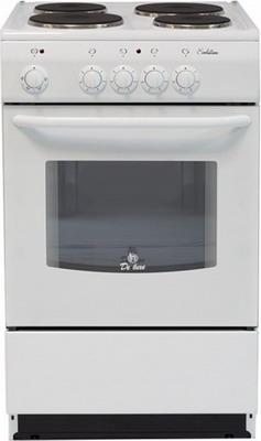 цена на Электроплита DeLuxe 5004.12 э (без щитка и крышки) белый
