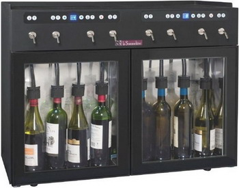 Диспенсер для вина LaSommeliere DVV8 чёрный с чёрной рамкой