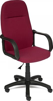 Офисное кресло Tetchair LEADER (ткань бордо 2604) цена