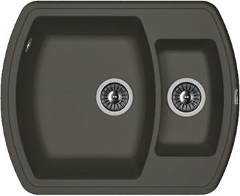 Кухонная мойка Florentina Нире-630 К 630х510 антрацит FSm искусственный камень все цены