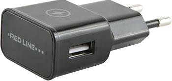 Сетевое зарядное устройство Red Line 1 USB (модель NT-1A) 1A черный сетевое зарядное устройство prime line 2303 1a miniusb черный