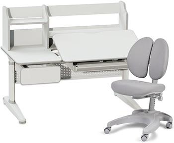 Комплект мебели Cubby парта Abelia Grey и кресло Solerte Grey
