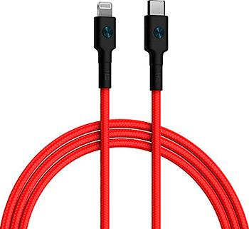 Фото - Кабель Zmi Type-C/Lighting 100см MFI 3A 18W PD красный кабель coocazoo type c type c 100 см 20w pd 3а нейлоновая ткань d3 8мм защитный чип dw3 green техпак