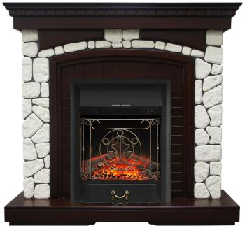Каминокомплект Royal Flame Glasgow с очагом Majestic Black (темный дуб) (64908504) цена