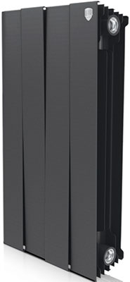 Водяной радиатор отопления Royal Thermo PianoForte 500/Noir Sable - 4 секц. радиатор royal thermo pianoforte tower noir sable 18 секций rtpftns50018