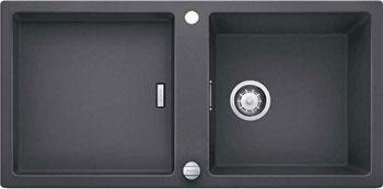 Кухонная мойка BLANCO ADON XL 6S SILGRANIT темная скала с клапаном-автоматом кухонная мойка blanco dalago 45 f silgranit темная скала с клапаном автоматом