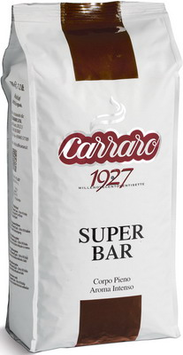 цена Кофе зерновой Carraro Super Bar 1 кг онлайн в 2017 году