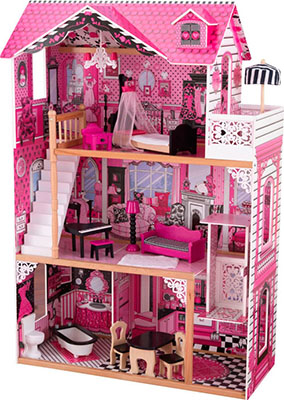 Кукольный домик для Барби с мебелью KidKraft Амелия 65093_KE кукольный домик kidkraft для барби аннабель с мебелью в подарочной упаковке