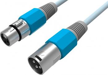 Кабель Vention аудио XLR M/XLR F 2м аудиокабель vention xlr m xlr f 3m black bbfbi