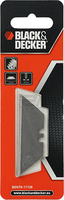 цена Лезвие для ручного ножа Black&Decker BDHT0-11130 1992 трапец. 5 шт онлайн в 2017 году