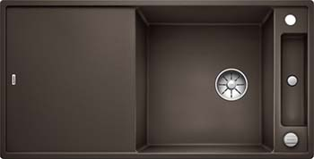Кухонная мойка BLANCO AXIA III XL 6 S InFino Silgranit кофе (доска стекло) 523519 кухонная мойка blanco axia iii xl 6 s f infino silgranit алюметаллик доска стекло 523528