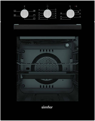 Встраиваемый электрический духовой шкаф Simfer B4EB 16011 чёрный цена