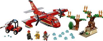 Конструктор Lego CITY Fire Пожарный самолёт 60217 конструктор lego city патрульный самолёт 54 дет 60206