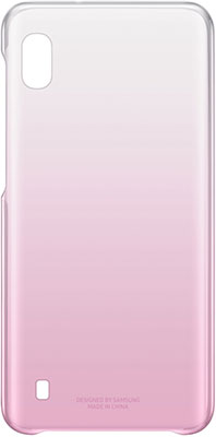 Чехол (клип-кейс) Samsung A 10 (A 105) GradationCover pink EF-AA 105 CPEGRU клип кейс samsung dual layer ef pj330 для galaxy j3 2017 голубой
