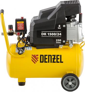 Компрессор DENZEL DK 1500/24Х-PRO 58063 компрессор denzel рс 1 6 180 1100вт 180л мин 6л