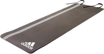Тренировочный коврик (мат) для фитнеса Adidas ADMT-12236WH комбинезон для йоги и фитнеса без рукавов грация цветная agyoga серый 164см 42 44