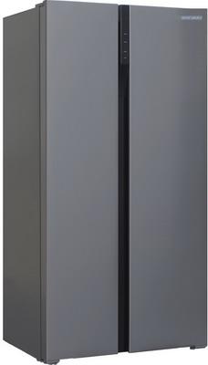Холодильник Side by Side Shivaki SBS-572 DNFX shivaki холодильник shivaki shrf 601sdw нержавеющая сталь двухкамерный