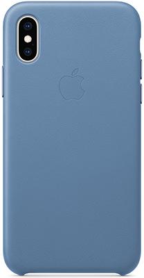Кожаный чехол Apple Leather Case для iPhone XS Max цвет (Cornflower) синие сумерки MVFX2ZM/A