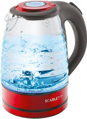 Чайник электрический Scarlett SC-EK27G62 красный чайник электрический scarlett sc ek18p53 1л 1600вт белый серый корпус пластик