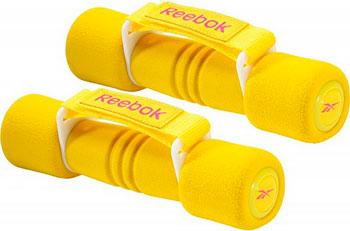 Гантель Reebok с мягкими накладками 1.0 кг (пара) RAWT-11061YL желтая гантель reebok dumbbell black цвет черный 5 кг