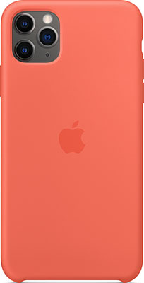 Чехол (клип-кейс) Apple Silicone Case для iPhone 11 Pro Max Clementine (Orange) MX022ZM/A
