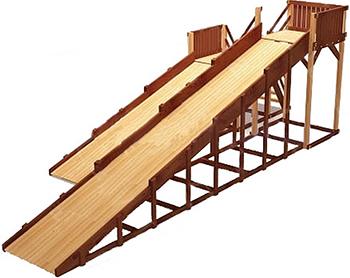Зимняя деревянная игровая горка Савушка, Зима-7 СЗ-07, Россия  - купить со скидкой