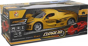 Машина на радиоуправлении 1 Toy Драйв 27 см матовый желтый Т13855 машинка на радиоуправлении наша игрушка машина р у драйв цвет в ассортименте от 6 лет пластик