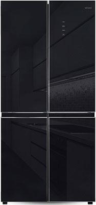 Многокамерный холодильник Ginzzu NFK-525 черное стекло холодильник ginzzu nfk 510 gold glass