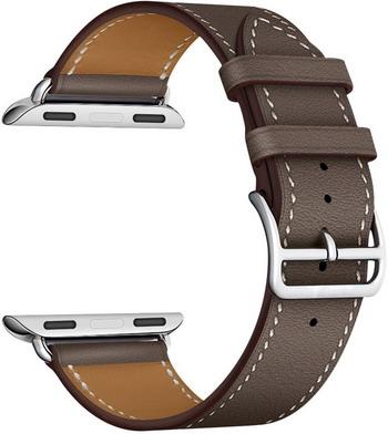 Ремешок для часов Lyambda для Apple Watch 42/44 mm MINKAR LWA-02-44-GR Gray ремешок для часов lyambda для apple watch 42 44 mm minkar dsp 10 44 black