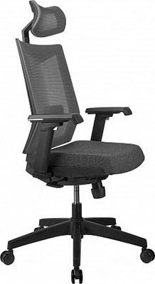 Кресло Riva Chair T27H Серая ткань (STI-01)/Серая сетка BTC-06