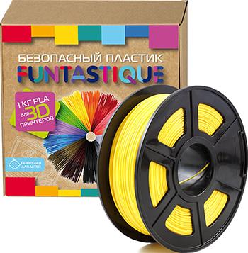 PLA-пластик в катушке Funtastique PLA-1KG-YL 1.75 мм 1 кг (Желтый)