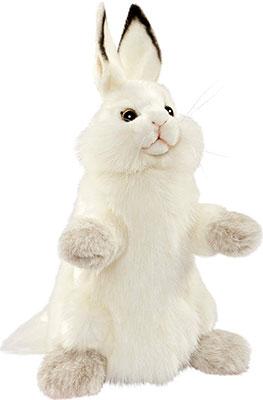 Мягкая игрушка Hansa Creation 7156 Белый кролик на руку 34 см
